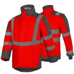 Parka KITA - Rouge - seule haute visibilité T2S